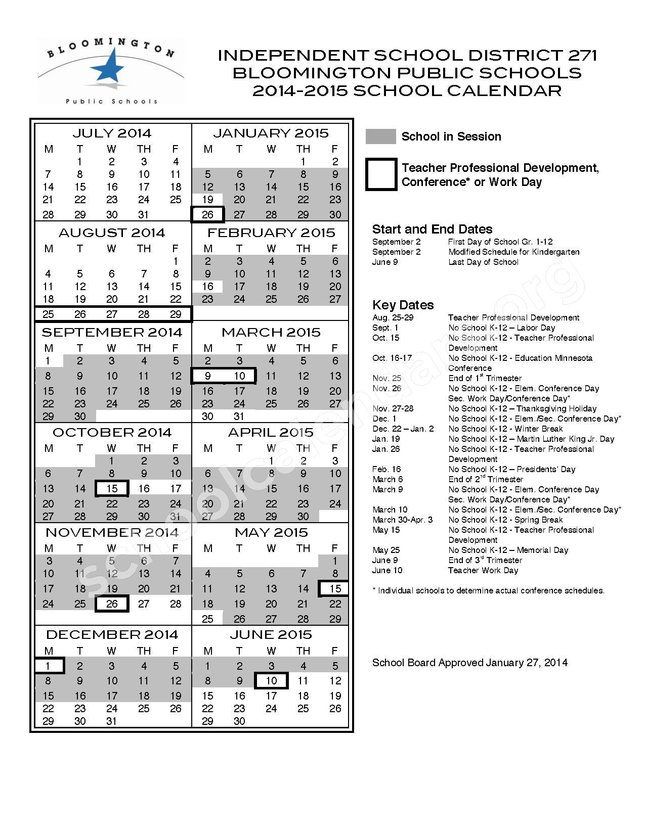 Full Year Calendar One Page : Full year calendar detail