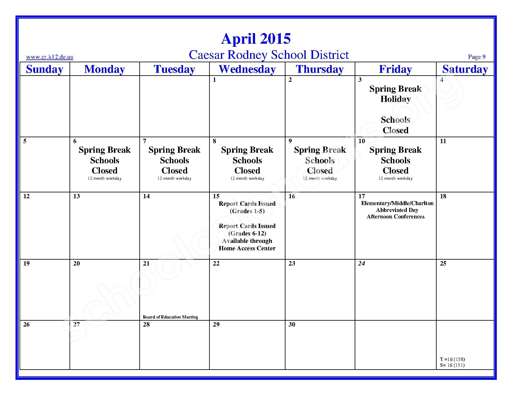 school calendar you asked we delivered dr rusts reflections