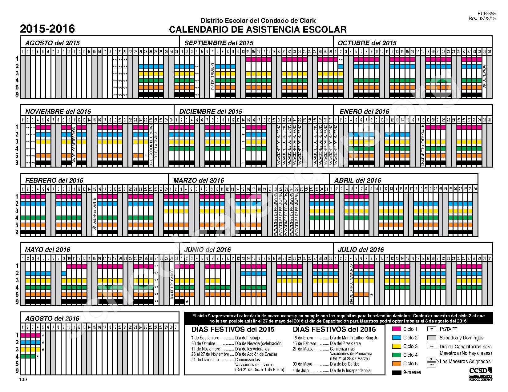 Calendar Las Vegas May : School calendars ann lynch elementary