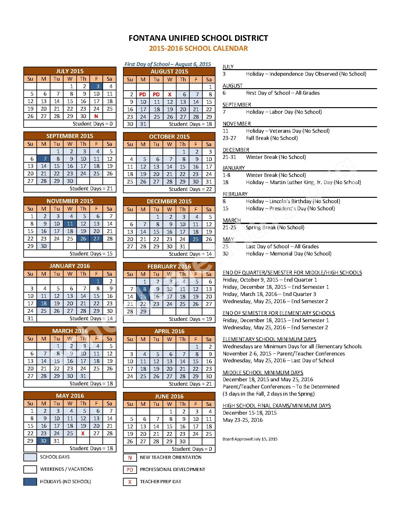 Calendar School Calendar Higley Unified School District Oukas Info