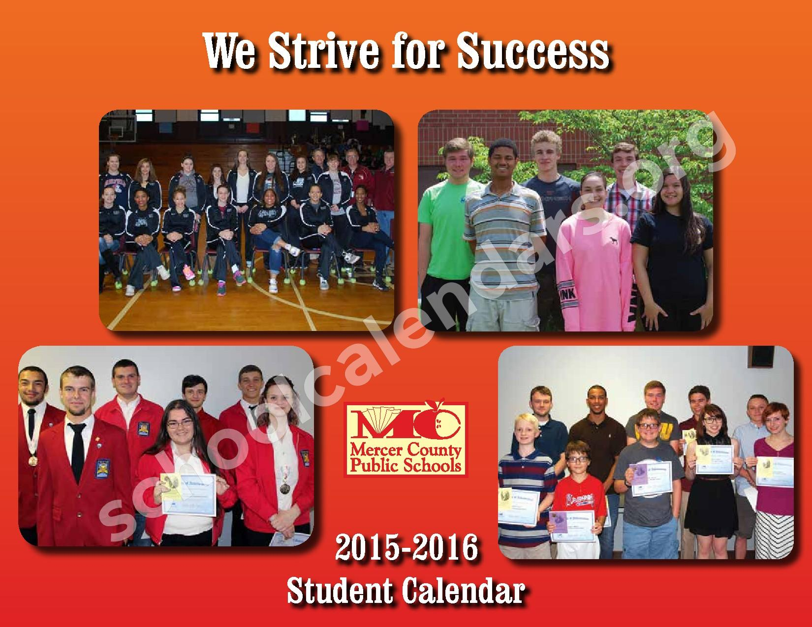 2015 - 2016 School Calendar – Mercer County Schools – page 1