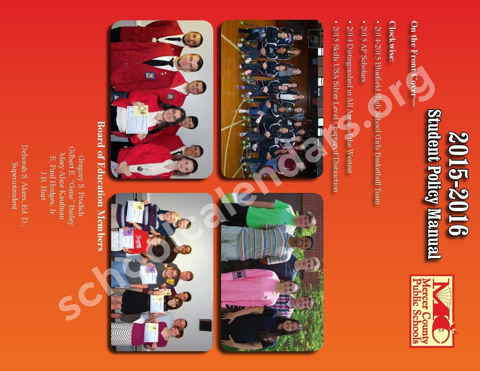 2015 - 2016 School Calendar – Mercer County Schools – page 40