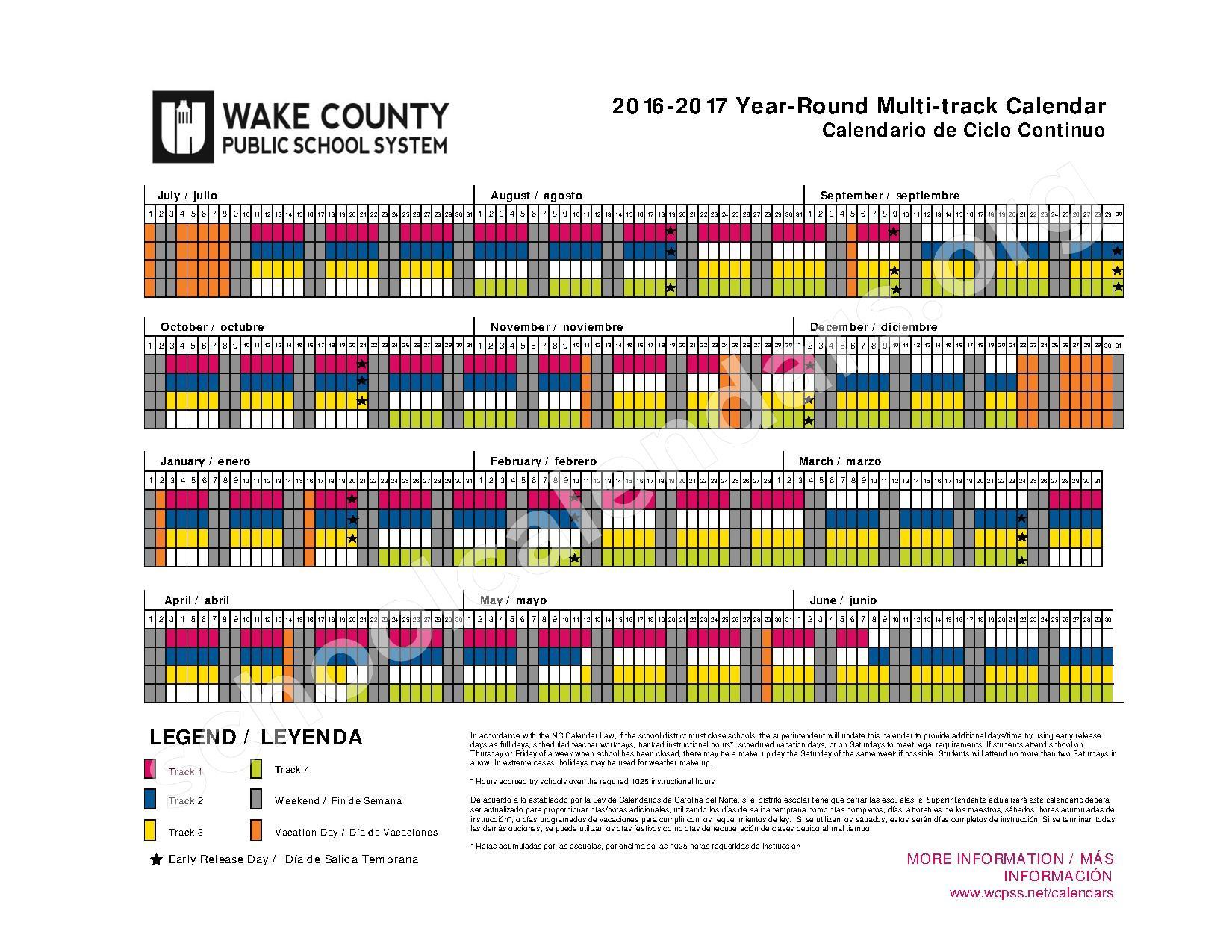 Year Round Calendar Durham Public Schools : Year round calendar knightdale elementary