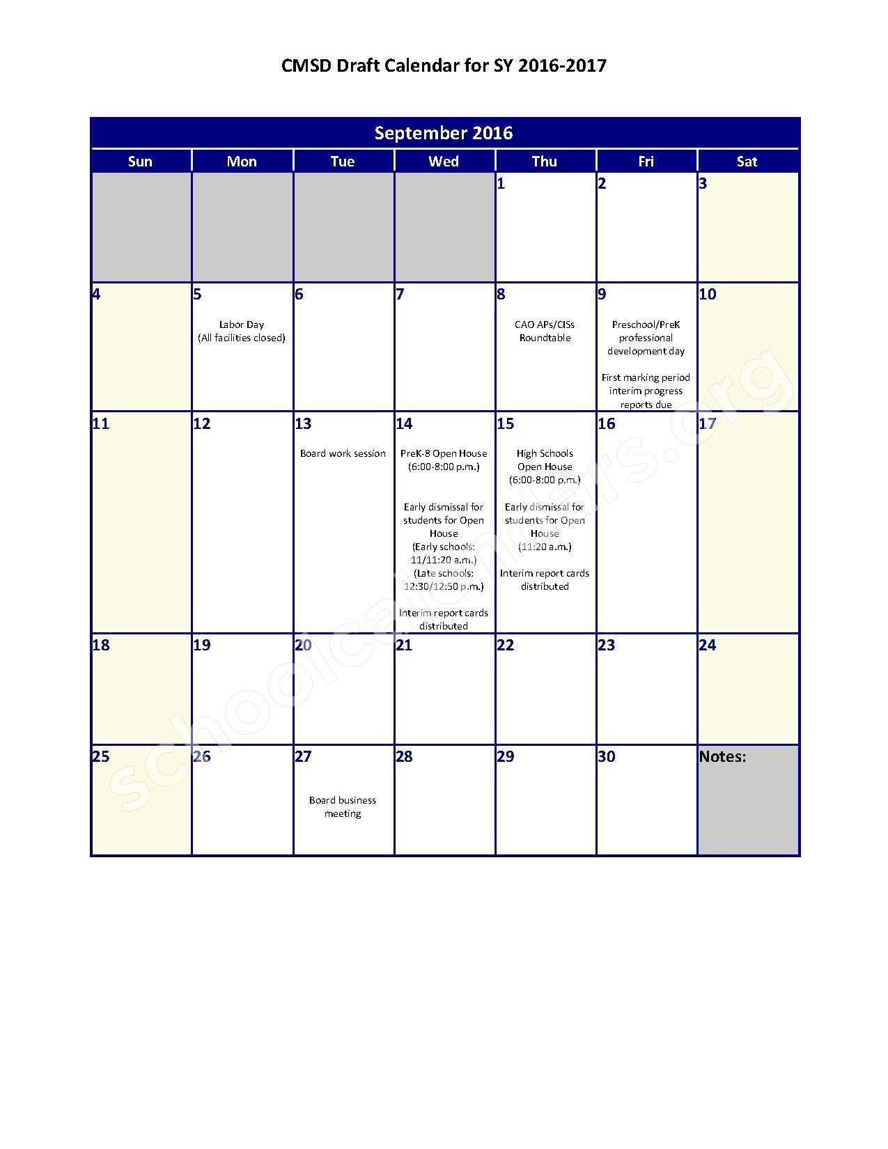 2016 - 2017 District Calendar – John Hay School of Architecture ...