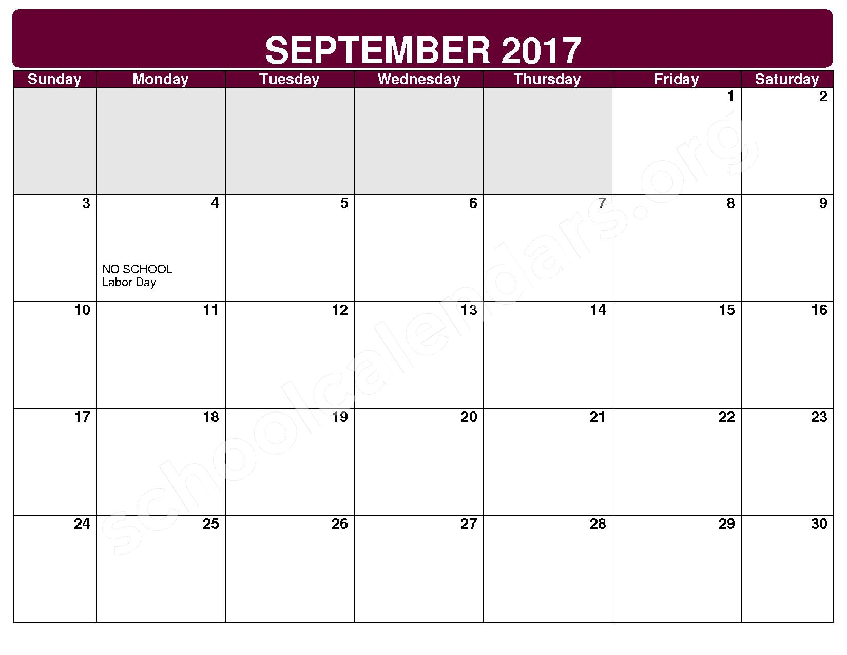 2017 - 2018 District Calendar – Maple Heights City Schools – page 2