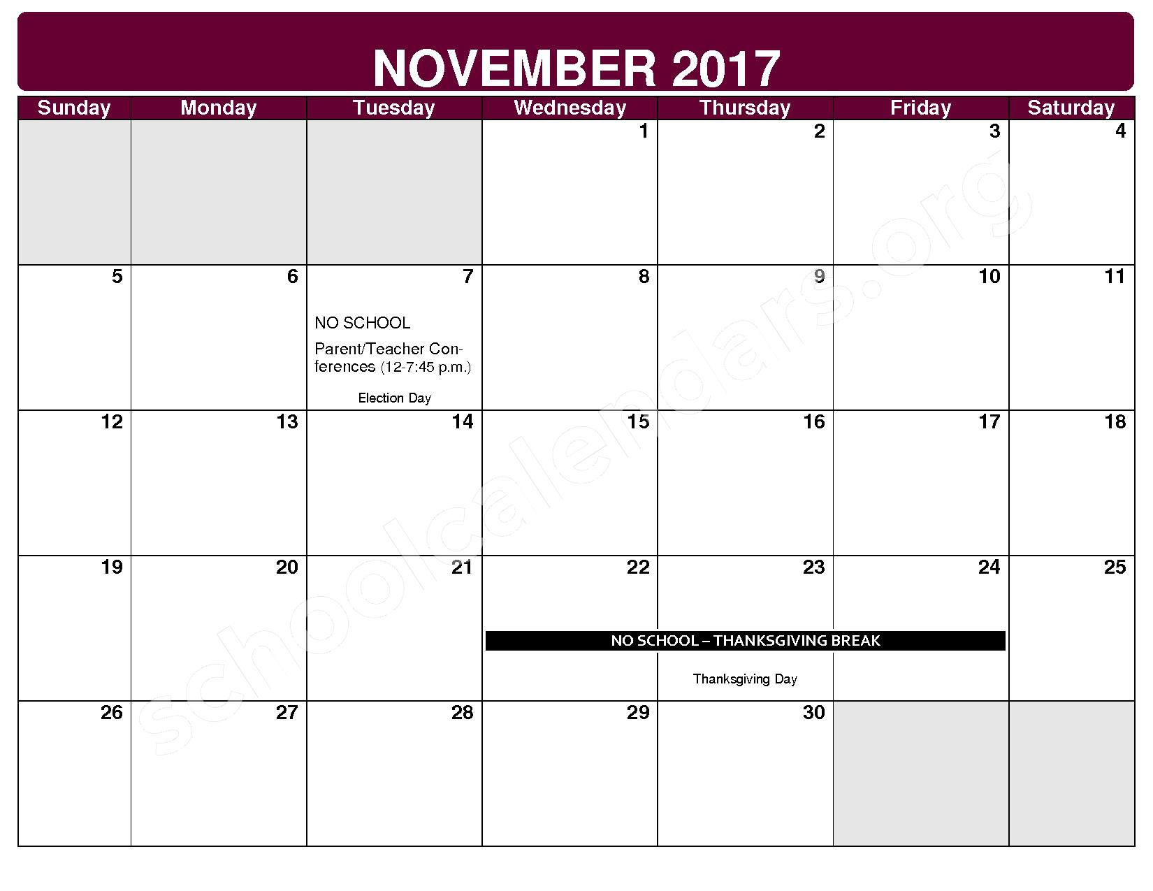 2017 - 2018 District Calendar – Maple Heights City Schools – page 4