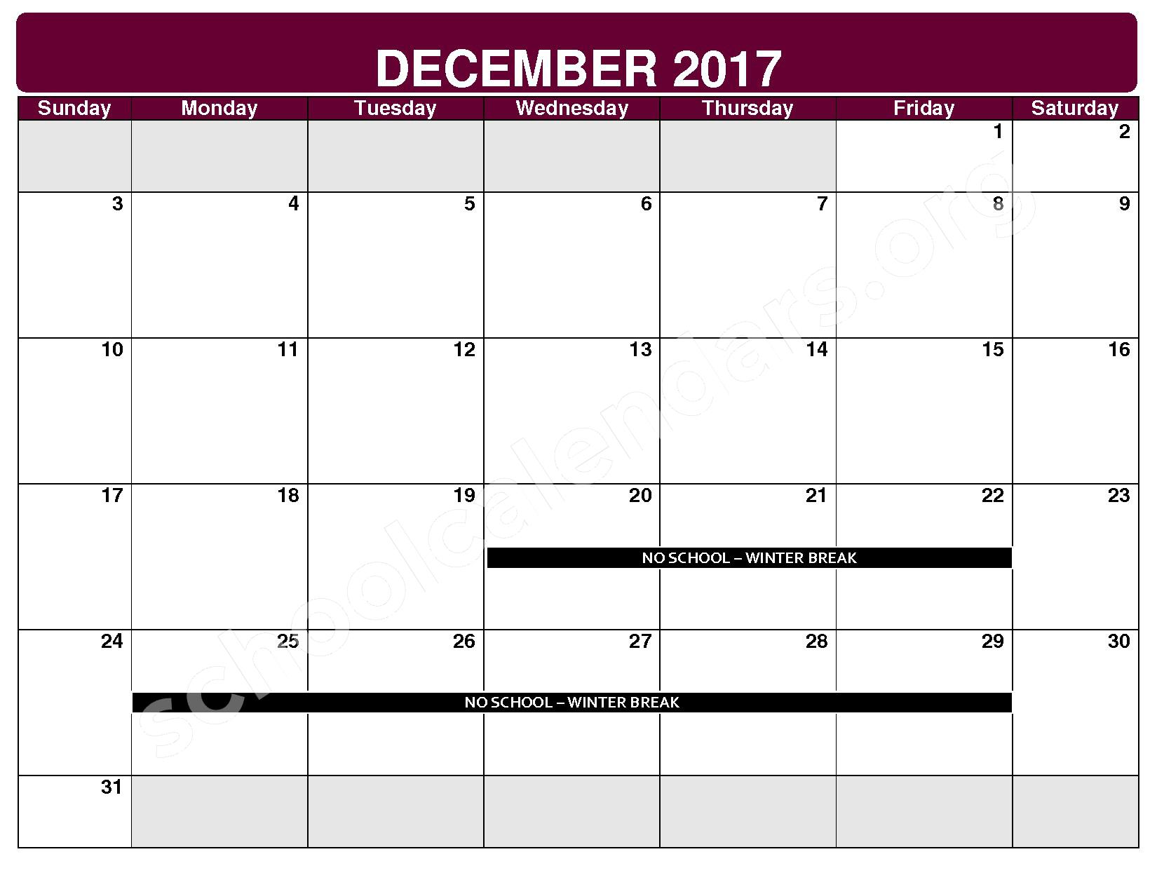 2017 - 2018 District Calendar – Maple Heights City Schools – page 5