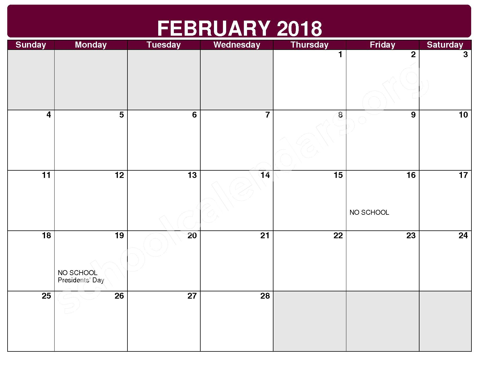2017 - 2018 District Calendar – Maple Heights City Schools – page 7