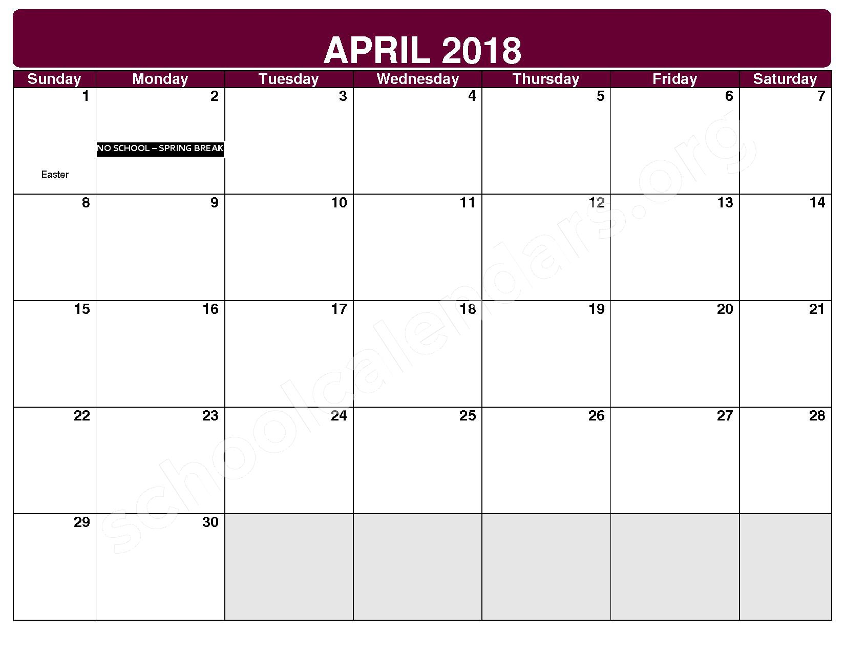 2017 - 2018 District Calendar – Maple Heights City Schools – page 9
