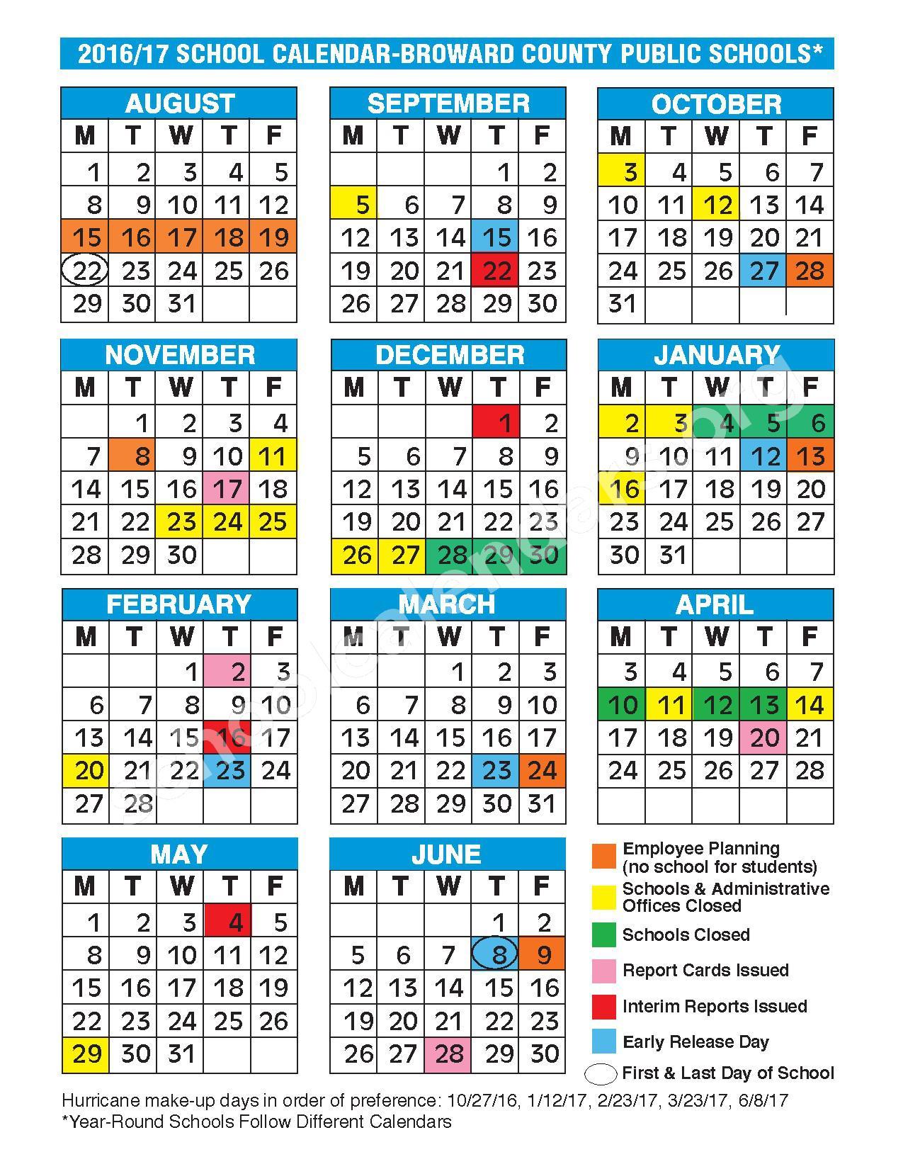 Broward Schools Calendar 2022.2018 Calendar Broward School 2019 New Year Images