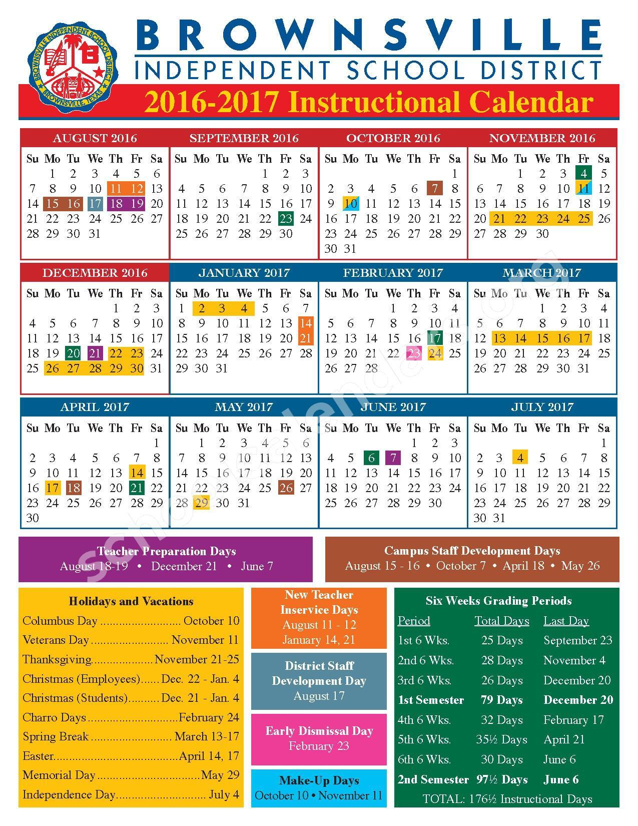 Garden Park Elementary School Calendars Brownsville Tx