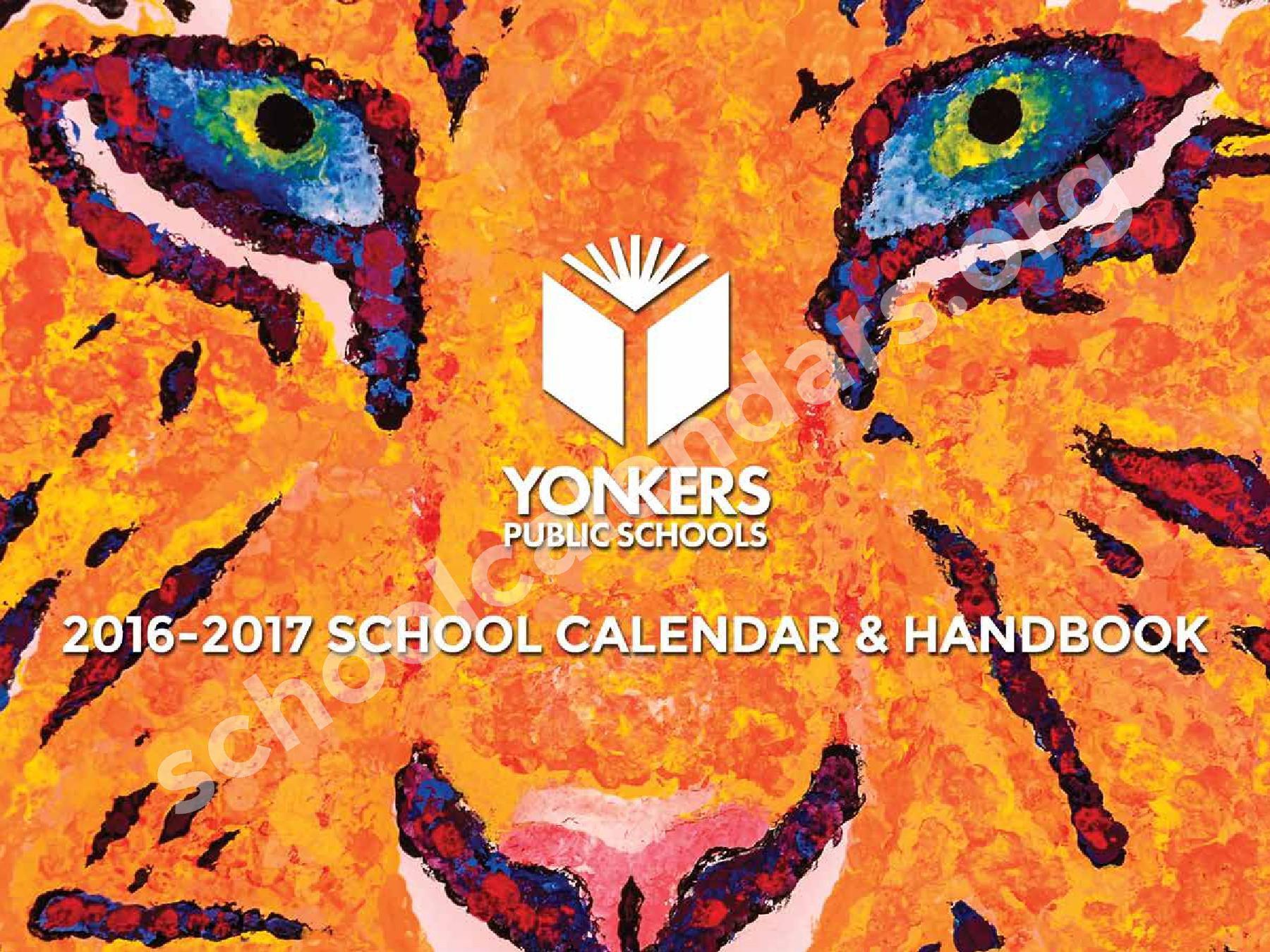 2017 - 2018 District Calendar – Yonkers City School District – page 1