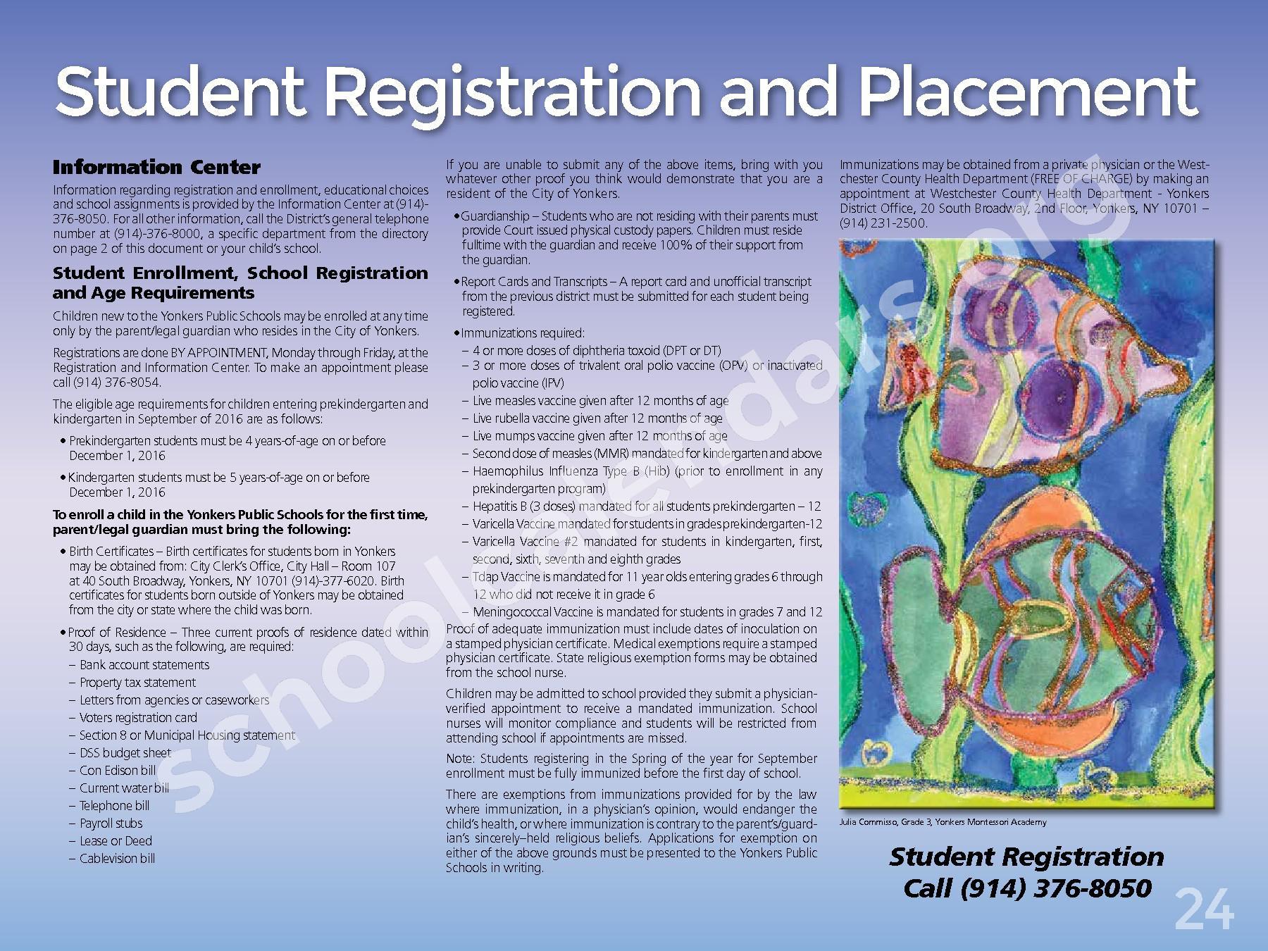 2017 - 2018 District Calendar – Yonkers City School District – page 26