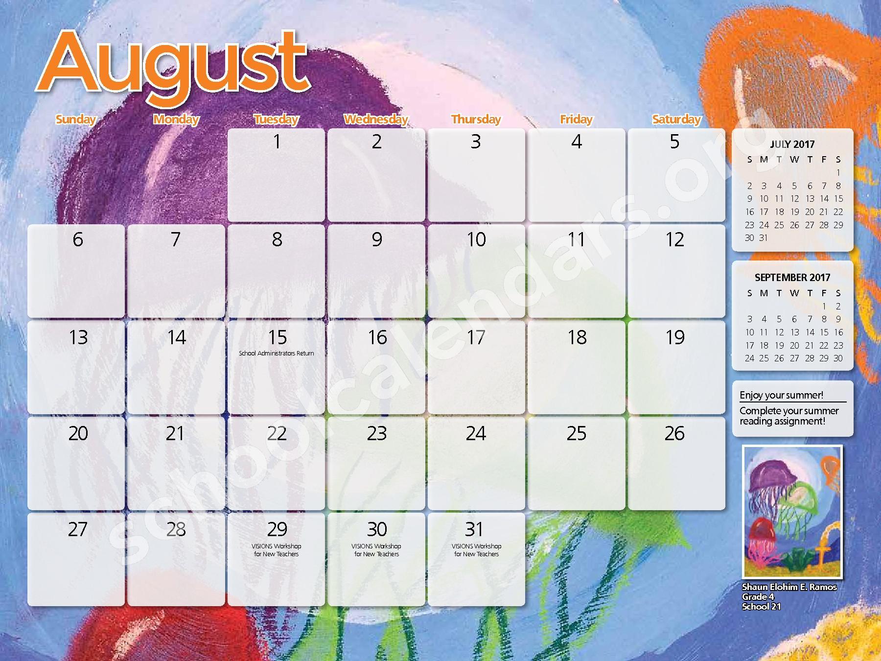 2017 - 2018 District Calendar – Yonkers City School District – page 27