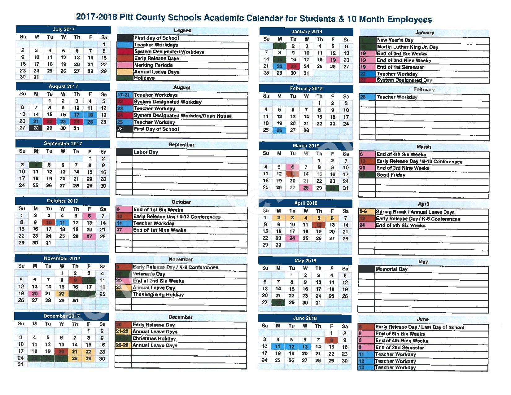 Pitt Academic Calendar 2018 16 Aigb