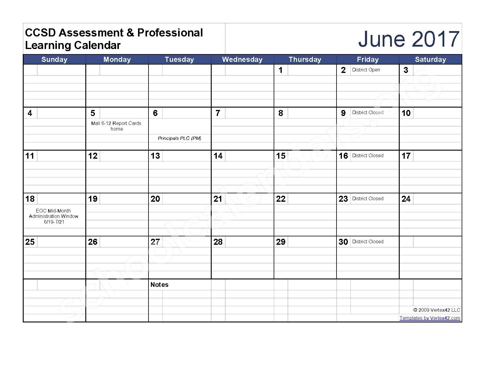 2016 - 2017 Assessment Calendar – Clarke County School District – page 11
