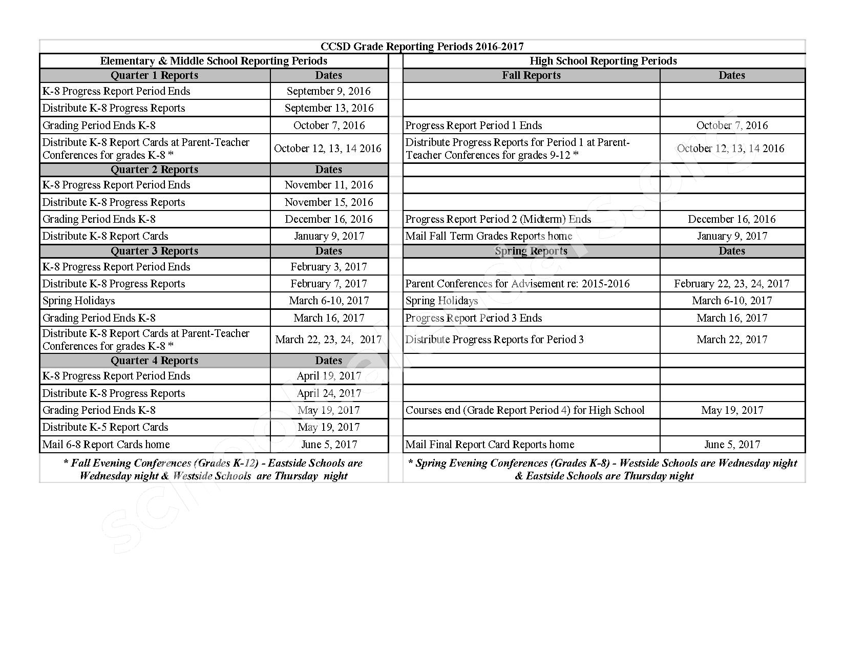 2016 - 2017 Assessment Calendar – Clarke County School District – page 15