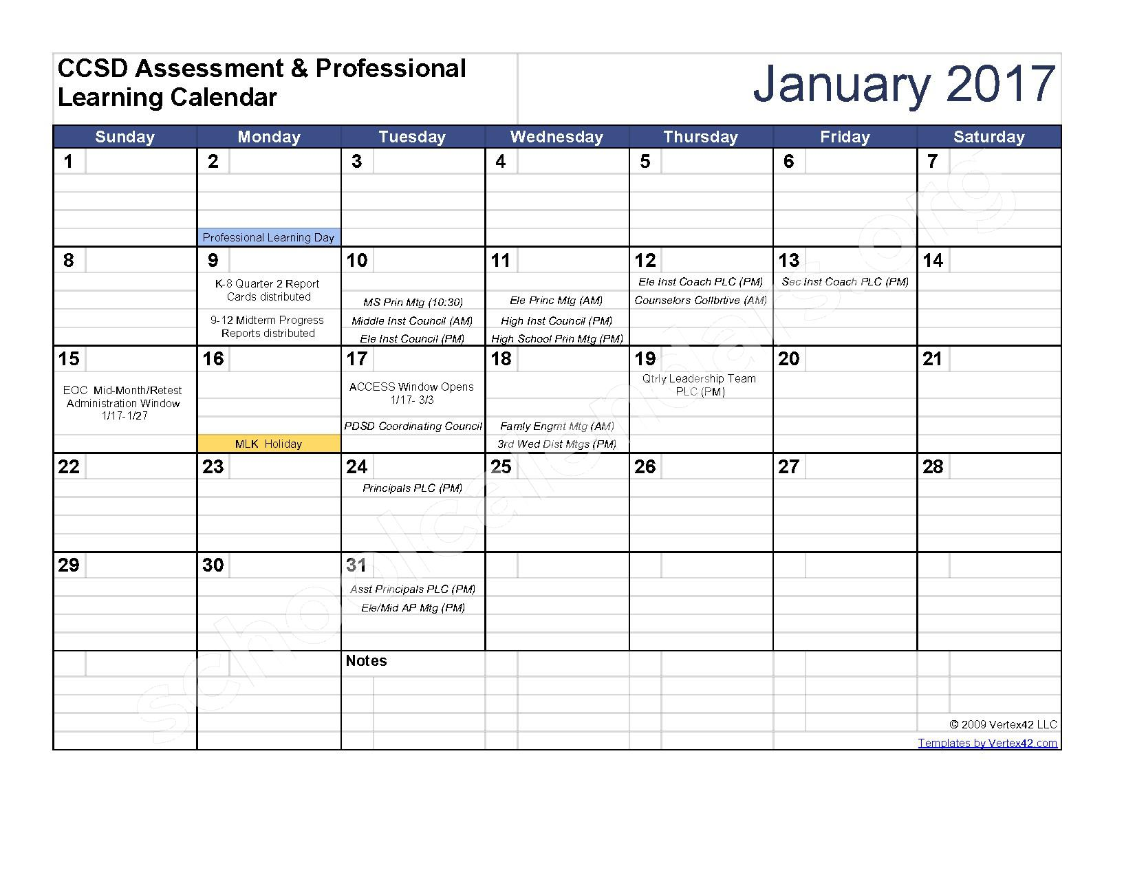 2016 - 2017 Assessment Calendar – Clarke County School District – page 6