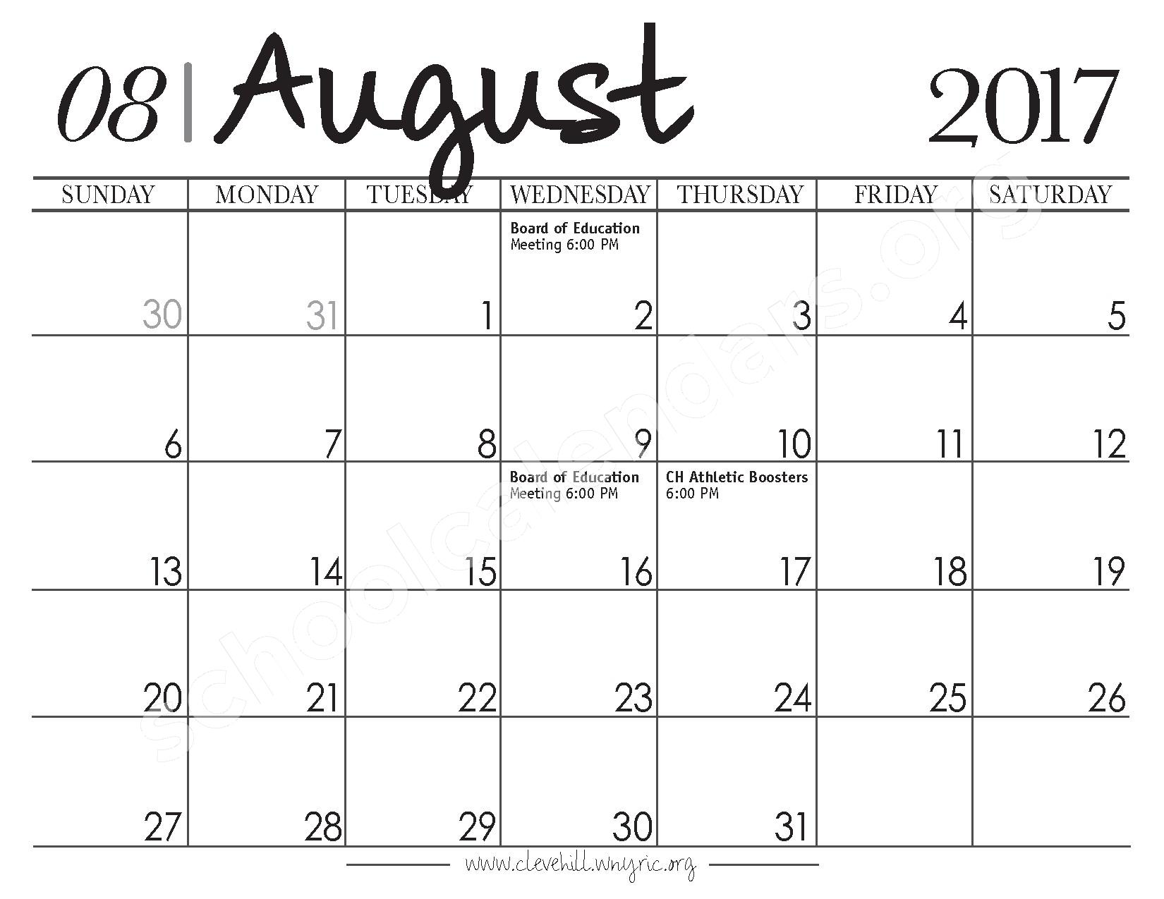 Cleveland Hill Union Free School District Calendars – Cheektowaga ...